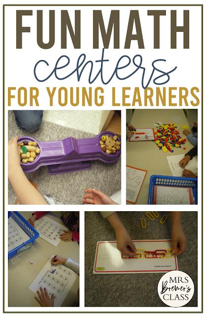 Math Center Ideas for Kindergarten