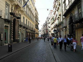 The Via Toledo in Naples has a typical flavour of the city