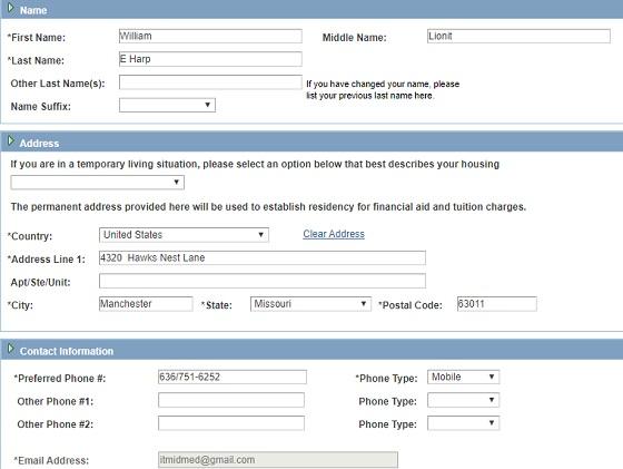 المرحلة التانية من  ملء بيات للحصول على edu email