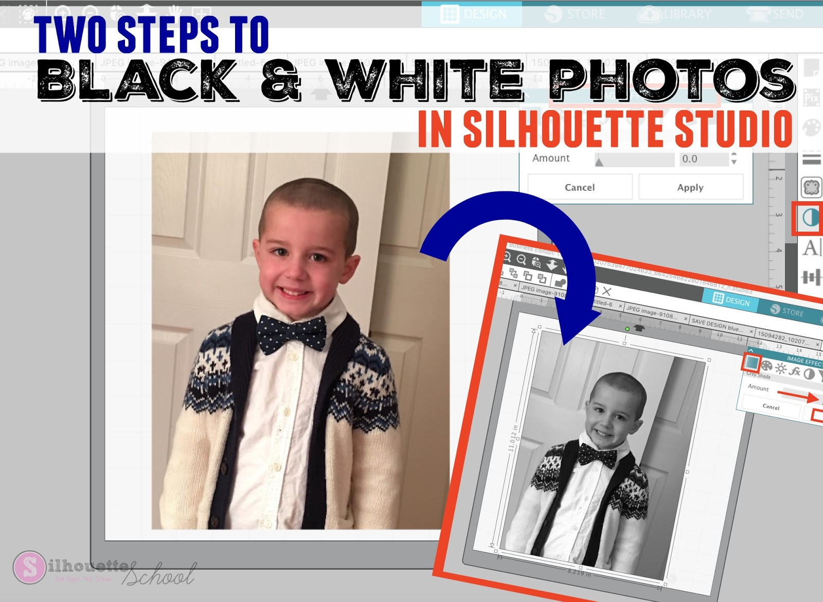 Turn Color Photos To Black And White In Silhouette Studio