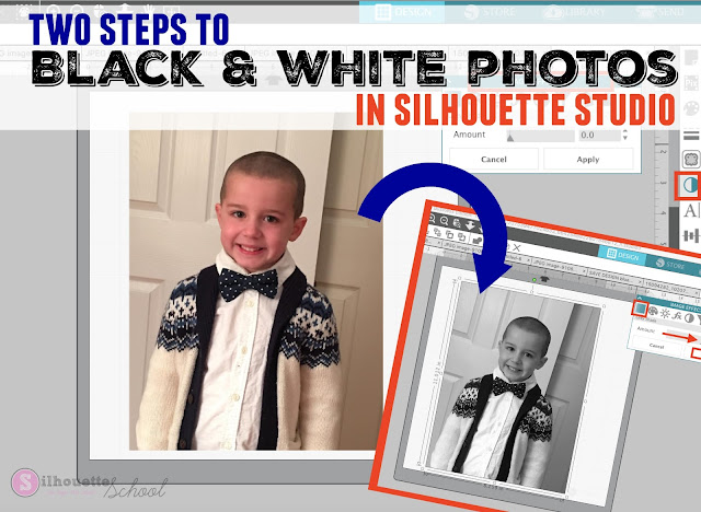 silhouette studio tips, silhouette studio tricks, silhouette cameo tutorials, silhouette studio black and white photos