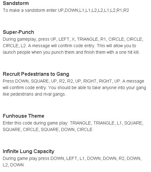 Summary -> Gta San Andreas Cheats Amp Codes For Xbox 360 X360