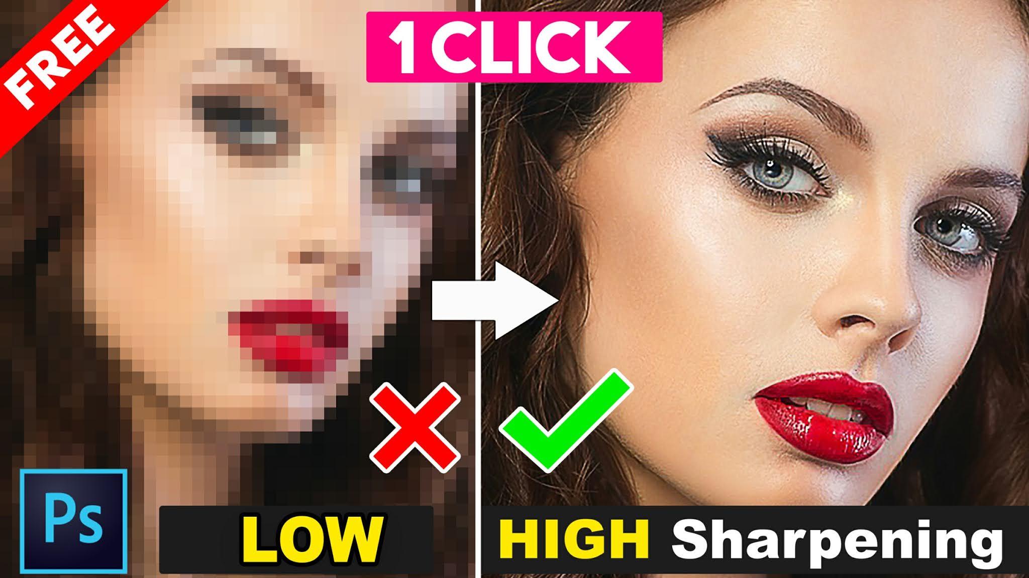 depixelate image sharpening