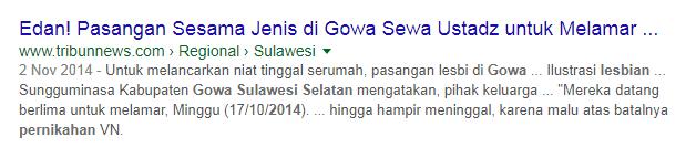 Berita Viral Pernikahan LGBT di Gowa Sulsel (2011 dan 2014)