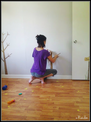 placing wall stickers