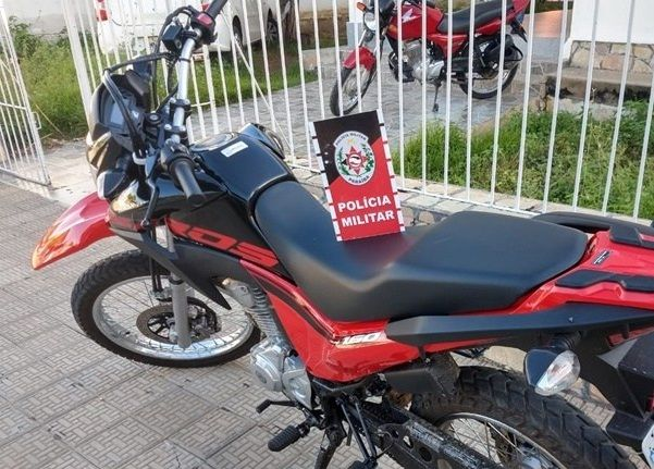 PM recupera motocicleta roubada em menos de 24 horas, em Pombal