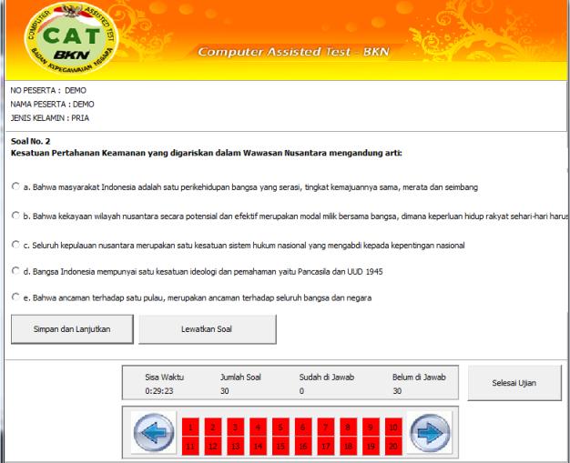 Cpns Latihan Simulasi Soal Cat Cpns Online Download Lengkap