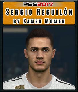 PES 2017 Faces Sergio Reguilón by Sameh Momen