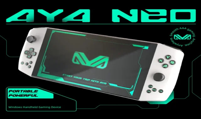 Aya Neo .. gaming laptop is now available on Indiegogo