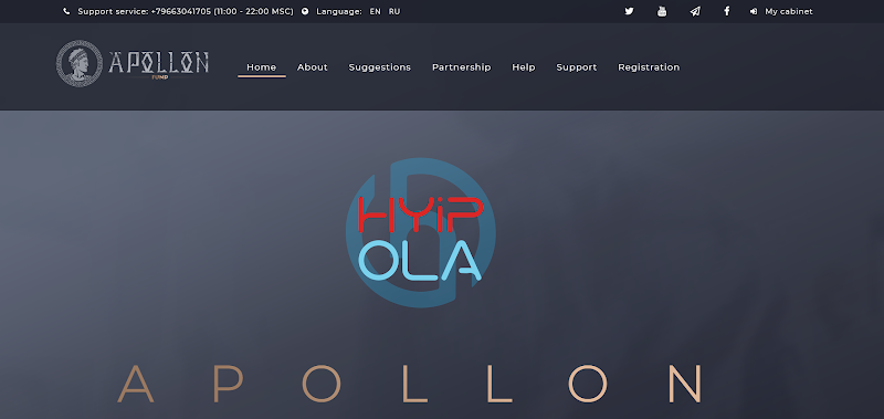 [SCAM] Review Apollon Fund - Dự án đầu tư đình đám từ Nga, lãi từ 0.8% hằng ngày