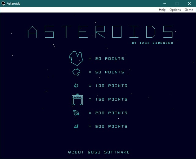 Asteroids Portable para PC