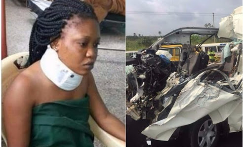 See Lady who Survived Accident that Killed 8 People who Returned Home For Wedding