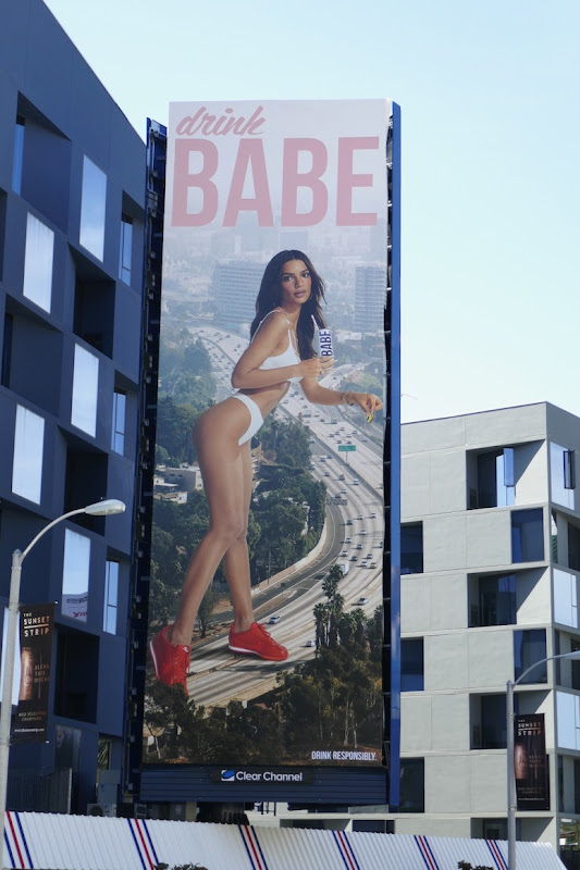 Drink Babe Rose LA freeway billboard