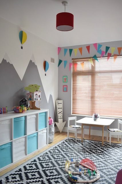 Adventure themed playroom reveal finally make do and diy - How to decorate kids playroom ...