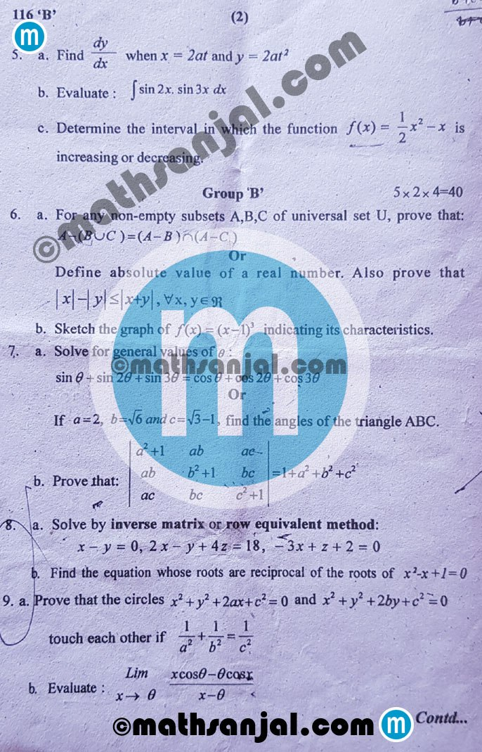 Mathematics-Question-Paper-2076-2019-Grade-11-xi-NEB