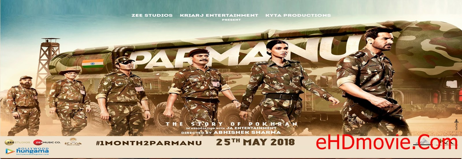 Parmanu: The Story of Pokhran 2018 Full Movie Hindi 1080p - 720p - HEVC - 480p ORG DvDRip 350MB - 550MB - 1.1GB - 2.5GB ESubs Free Download