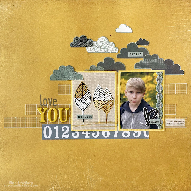 Scrapbooking Layout: Love you