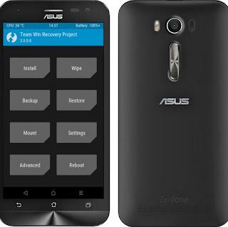 Pasang TWRP Asus Zenfone 2 Laser Z00LD ZE550KL Lengkap