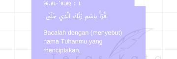 Pesan Literasi dalam Surah Al-'Alaq: Menyari Live IG bersama Ustaz Yuyun