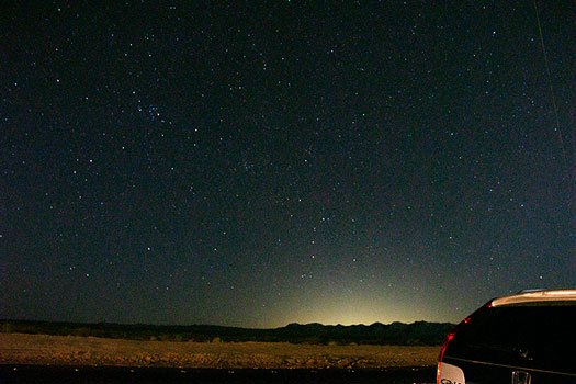 DSLR image from outside Laughlin, NV, 18mm, 47 seconds (Source: Palmia Observatory)