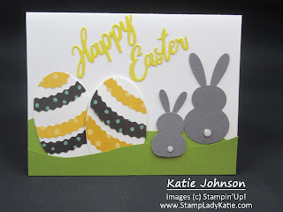Punch art card for Easter using Oval Dies to make the Eggs. Punch art Easter Rabbit uses the Snowman and Daisy punches
