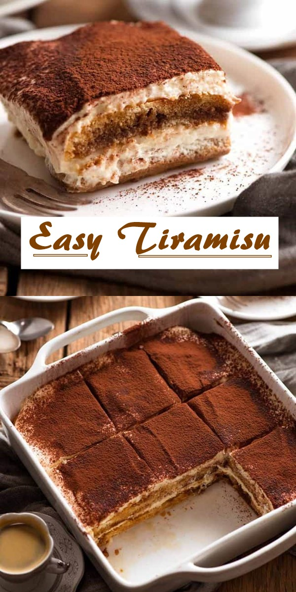 Easy Tiramisu (Chef Recipe) #dessertrecipes