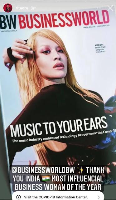 """La rivista """"BW"""" sceglie Rita Ora come la donna più influente dell'anno nel mondo degli affari"""