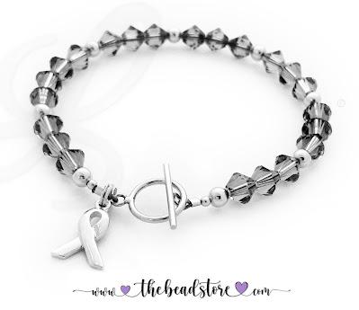 Sterling Silver Grey Ribbon Bracelets