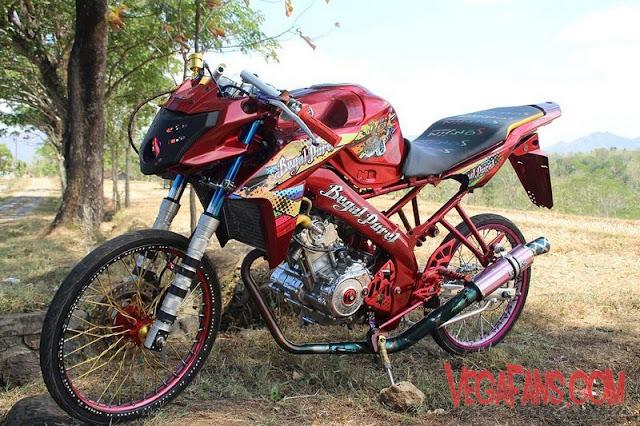 New Vixion Modif Jari Jari Warna Merah Marun