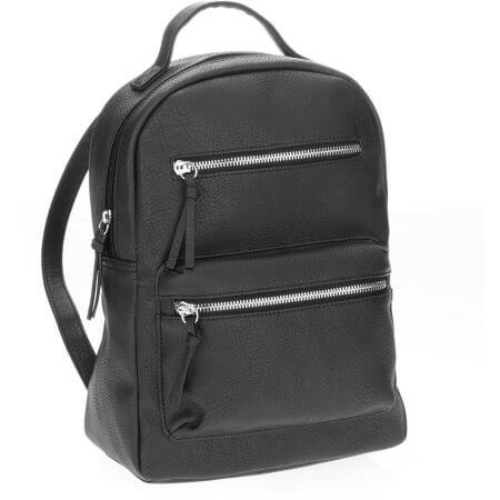 Walmart No Boundaries Black 2 Zipper Backpack