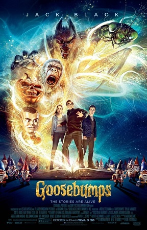 Poster Of Goosebumps 2015 Multi Audio 720p BRRip [Hindi - English -Tamil] Free Download Watch Online