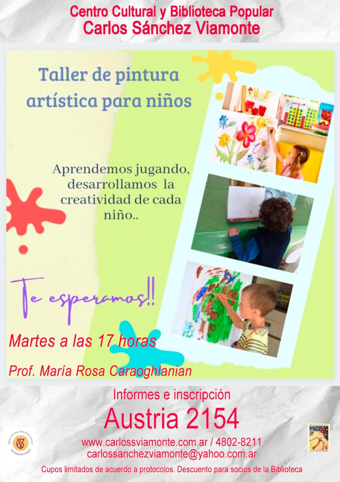 Taller de Pintura artística para niños