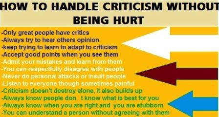 How to handle Criticism without being hurt
