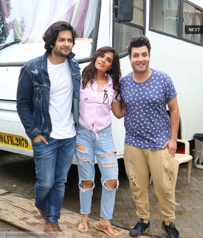 Cast of 'Fukrey 2' Snapped at Mehboob Studio In Mumbai