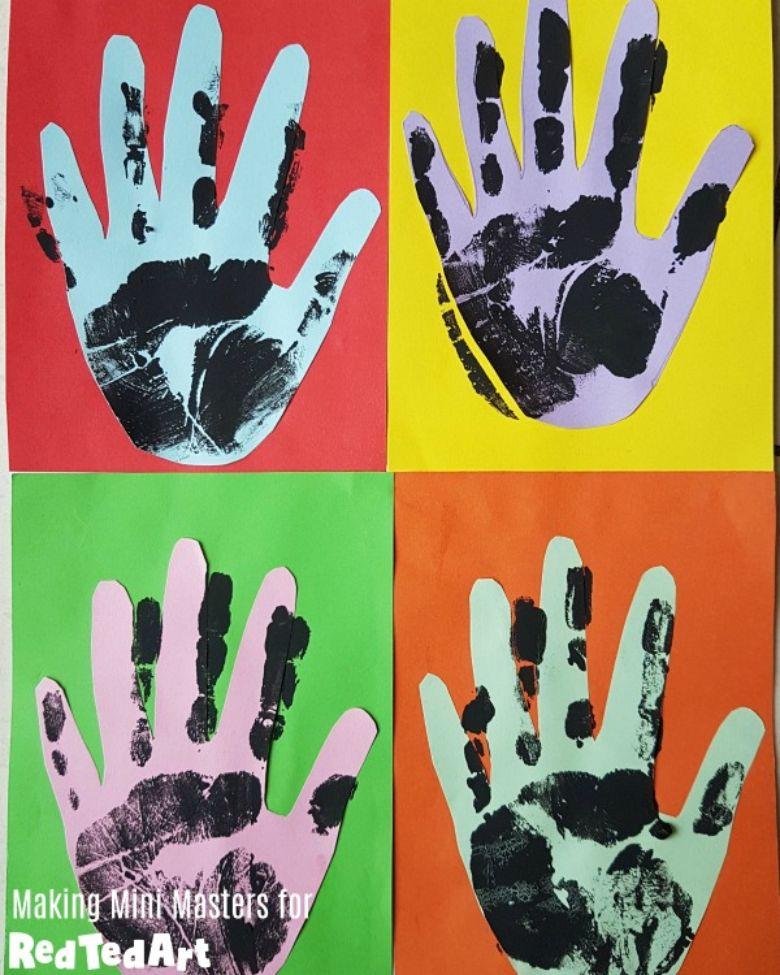 handprint pop art