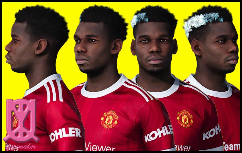 Paul Pogba Face For eFootball PES 2021