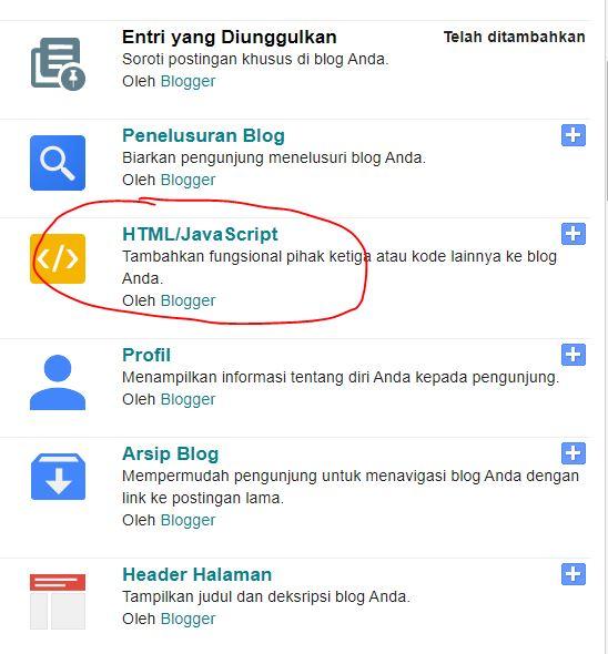 add html blogger
