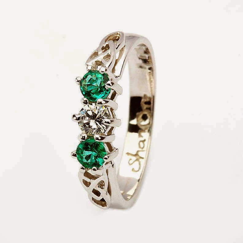 celtic wedding rings wih diamonds