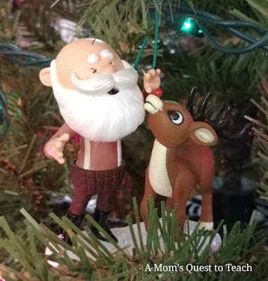 Santa and Rudolph ornament