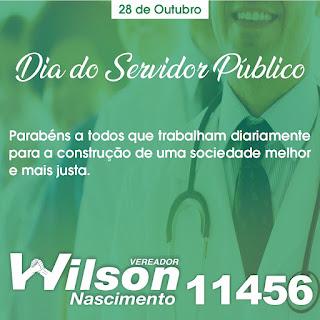Em Sapé Wilson Nascimento parabeniza servidores públicos na passagem de seu dia