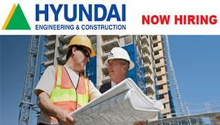 وظائف خالية فى شركة هيونداي للهندسة والإنشاءات فى الإمارات 2017
