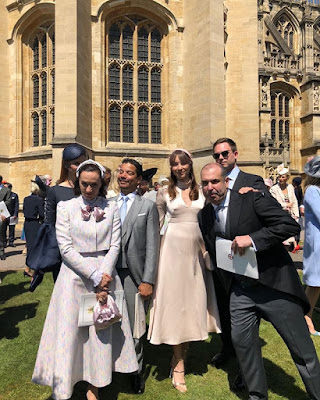 Suits and PLL cast Rick Hoffman, Troian Bellisario and Patrick J. Adams at the Meghan Markle and Prince Harry royal wedding
