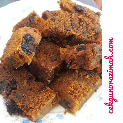 kek buah, kek buah kukus, kek buah tradisional