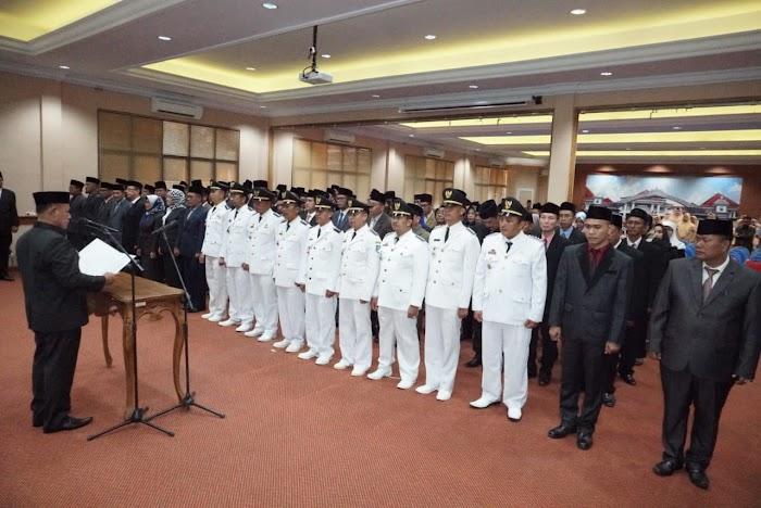 Plt Bupati Lampung Selatan Lantik 123 Pejabat Struktural Eselon II, III, dan IV Pemkab Lamsel