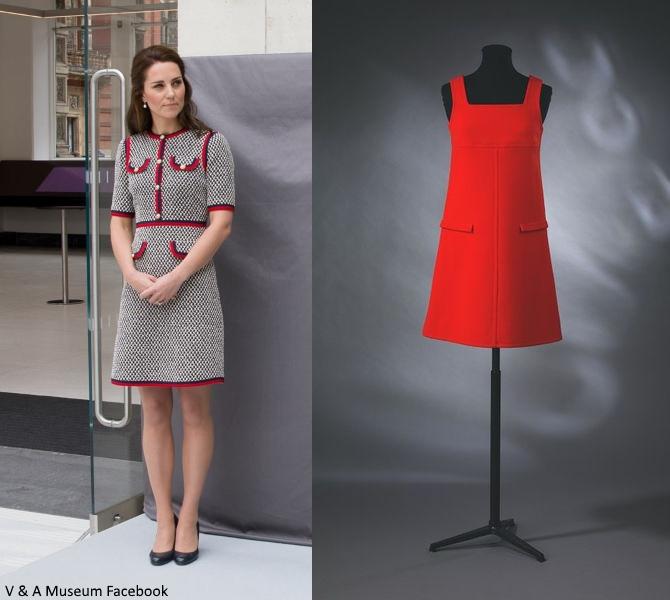 8055e030b Duchess Kate: Kate Channels Jackie O in Gucci Mini Dress for V & A ...