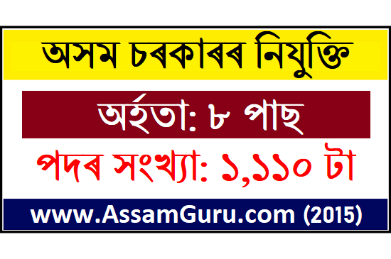 Assam New Recruitment 2020