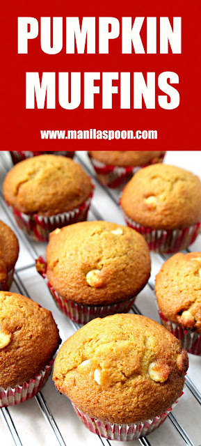 Use this as your basic formula for  yummy Pumpkin Muffins! Add your favorite baking chips for extra deliciousness! | manilaspoon.com