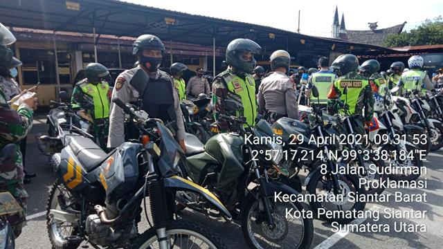Patroli Skala Besar Dilakukan Personel Jajaran Kodim 0207/Simalungun Bersama Dengan Dinas Terkait