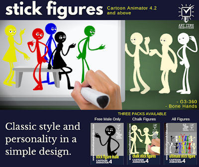 Stylish Stick Figures Now Available in my Reallusion Marketplace Store.