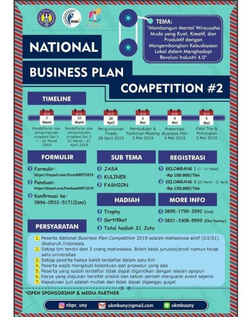 Lomba Binis Plan Nasional 2019 Di Uny Info Lomba 2021 Terbaru